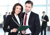 Obraz dwóch partnerów biznesowych, planowanie pracy — Zdjęcie stockowe