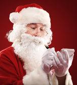 サンタ クロースのリストを記述 — ストック写真