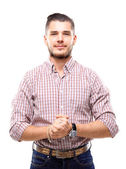 Casual young man looking at camera — Stock Photo