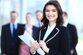 Face of business woman — Stock Photo