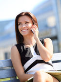 Businesswoman having phone call — Stock Photo