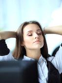 女人放松 — 图库照片
