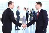 People shaking hands — Stock Photo