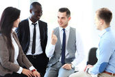 Discussing documents — Stock Photo