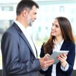 Business partners discussing documents — Stock Photo #49767613