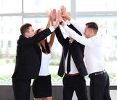Business team celebrating success — Foto Stock