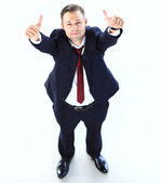 Businessman showing thumbs up. — Stock Photo