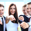 Group of executives pointing at you — Stock Photo