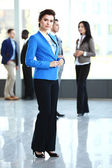 Happy smart businesswoman — Stock Photo