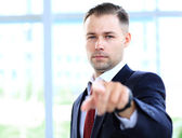 Handsome businessman pointing at you — Stock Photo