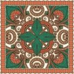 Traditional Ornamental Floral Paisley Bandanna — Stock Vector #13494890