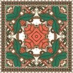 Traditional Ornamental Floral Paisley Bandanna — Stock Vector #13494894