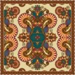 Traditional Ornamental Floral Paisley Bandanna — Stock Vector #13495721