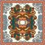 Traditional Ornamental Floral Paisley Bandanna — Stock Vector #13496917