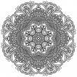 Circle ornament, ornamental round lace — Imagen vectorial