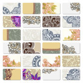 Ornamental business card — Stockvector