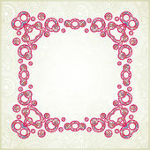 Pink ornamental pattern — Stock Vector