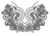 Neckline embroidery fashion. Ukrainian traditional pattern — Stock Vector