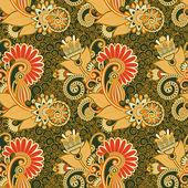 Seamless flower paisley design background — Stock Vector
