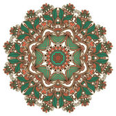 Circle ornament, ornamental round lace — Vecteur