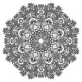Circle ornament, ornamental round lace — Vettoriale Stock