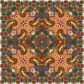 Traditionele sier bloemen paisley bandana — Stockvector