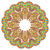 Circle ornament, ornamental round lace — Wektor stockowy