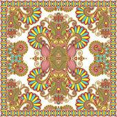 Bandana cachemire floreale ornamentali tradizionali — Vettoriale Stock