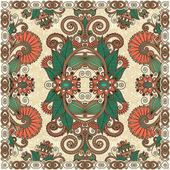 традиционные орнаментальные цветочные пейсли бандану — Cтоковый вектор