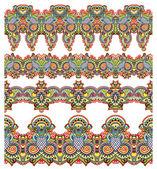 Sammlung von nahtlosen dekorative floral streifen — Stockvektor