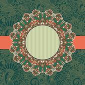Circle vintage ornamental template — Stock Vector