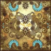 Diseño de flores sobre fondo grunge — Vector de stock