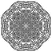 Kruh ornament, okrasné kruhové krajky — Stock vektor