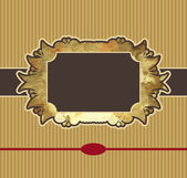 Obsolete royal gold frame design element — Stock Vector