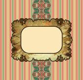 Obsolete royal gold frame design element — Stock Vector