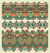 Collection of seamless ornamental floral stripes — Stockvector