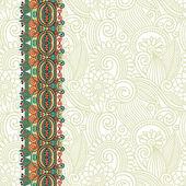 Ozdobné květinové pozadí s pruhem ornament — Stock vektor