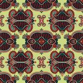 Геометрия старинные цветочные бесшовный фон — Cтоковый вектор