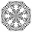 Circle ornament, ornamental round lace — Vektorgrafik