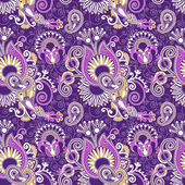 Vintage floral seamless paisley pattern — Stock Vector