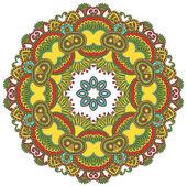 Cerchio ornamento, ornamentale pizzo rotondo — Vettoriale Stock