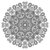Circle ornament, ornamental round lace — Stockvector
