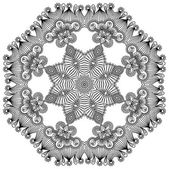 Circle ornament, ornamental round lace — Stock vektor