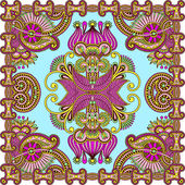 Traditional ornamental floral paisley bandanna — Vector de stock