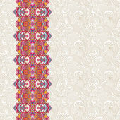 Ornate floral background with ornament stripe — Cтоковый вектор