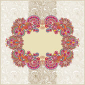 Ornamental template with floral background — Vector de stock