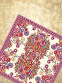 Design ornamentale di tappeto floreale su sfondo grunge — Vettoriale Stock