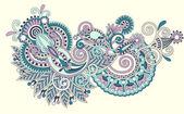 Line art ornate flower design — Stock Vector