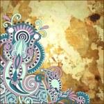 Flower design on grunge background — Stock Vector #13537469