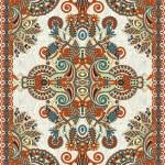 Ukrainian Oriental Floral Ornamental Seamless Carpet Design — Stock Vector #13537676